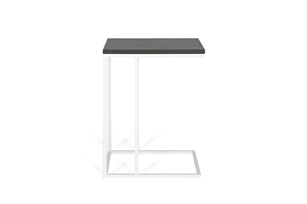 FOREST White Sofa side table Black-oak