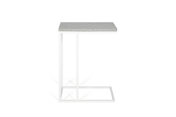 FOREST Baltas staliukas prie sofos Betonas