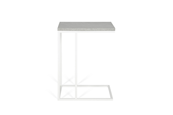 FOREST White Sofa side table Concrete