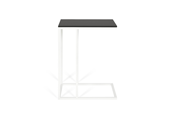 FOREST Baltas staliukas prie sofos Juodas-fenix