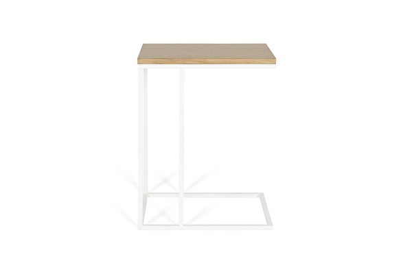 FOREST White Sofa side table Oak