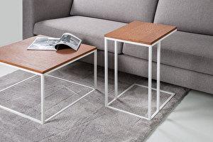 FOREST Baltas staliukas prie sofos