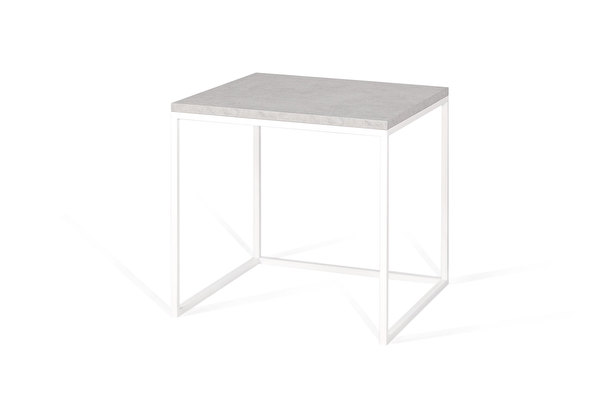 FOREST White Side nesting table Concrete