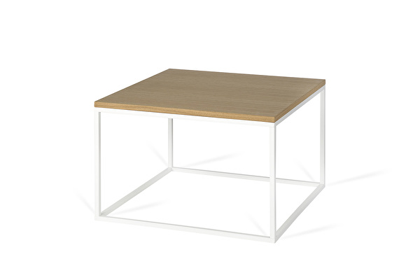FOREST White Coffee Square table Oak