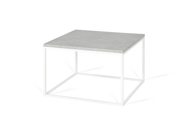FOREST White Coffee Square table Concrete