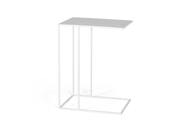 SILENCE Gartentisch Sofa Beistelltisch Weiss