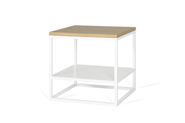 FOREST DUO White side table Oak