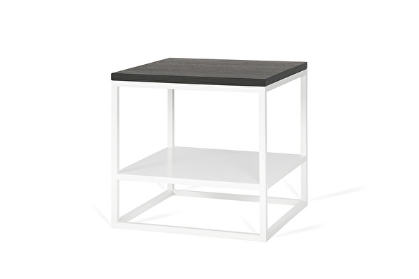 FOREST DUO White side table Black-oak