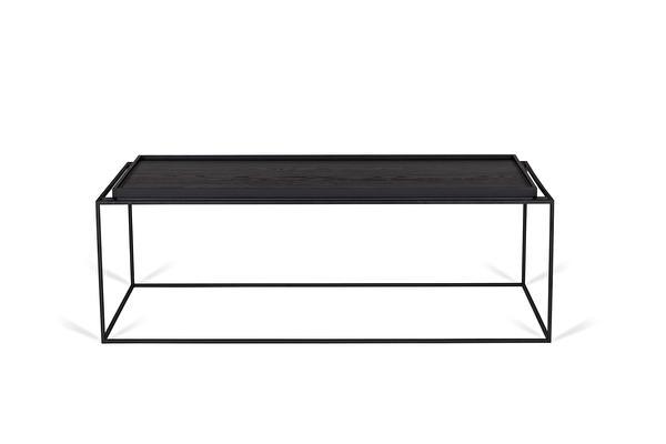 TRAY ilgas kavos staliukas Juodas