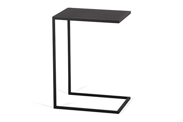 SILUET Sofa Beistelltisch Schwarz
