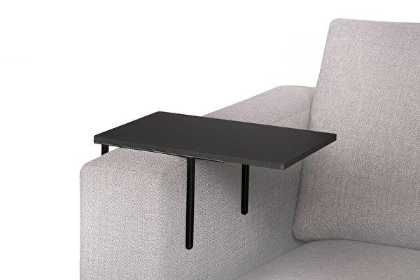 HELPER Sofa Beistelltisch Schwarz-fenix