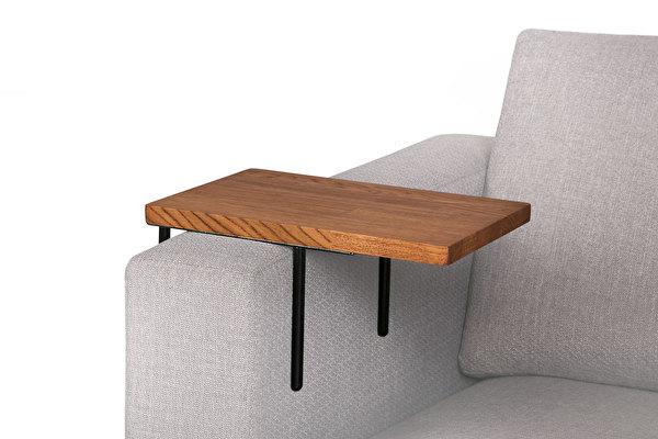 HELPER staliukas ant sofos Sokoladinis-azuolas
