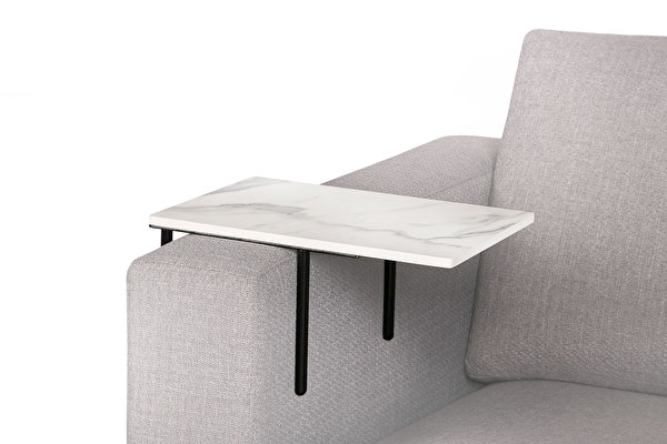 HELPER Sofa Beistelltisch Weisser-marmoroptik-tischplatte