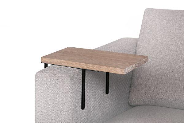 HELPER Sofa Beistelltisch Weisseiche