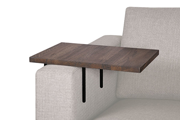 HELPER Sofa Side table Large Dark-oak