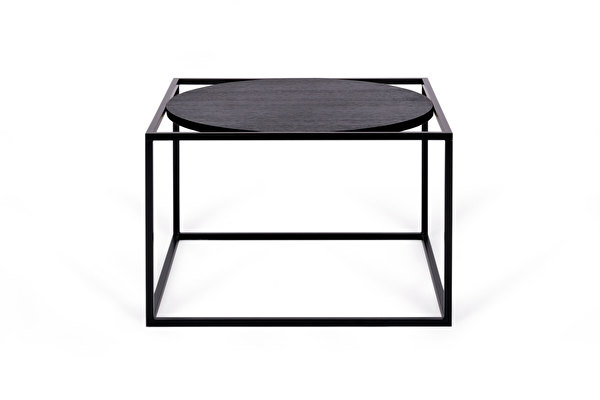 FOREST Round Coffee table Black-oak