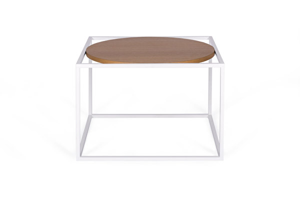 FOREST Round White Coffee table Oak