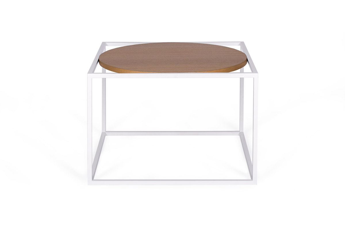 FOREST Round White Coffee table