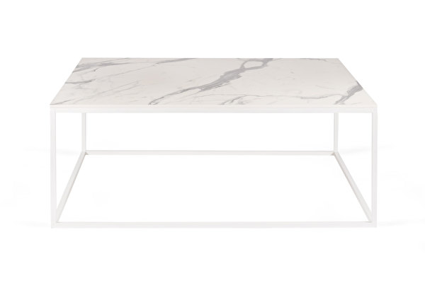 FOREST White Coffee Square 100 White-marblelook-tabletop