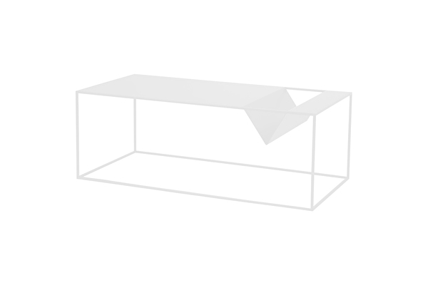 SILENCE Coffee Magazine table White
