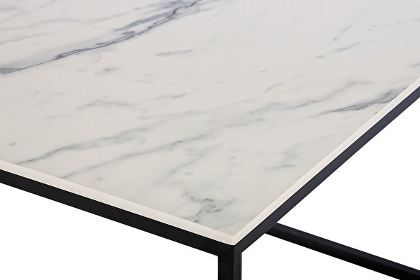 FOREST Coffee table White-marblelook-tabletop