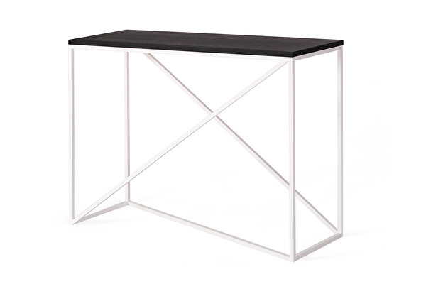 FOREST Cross White Console Black-oak