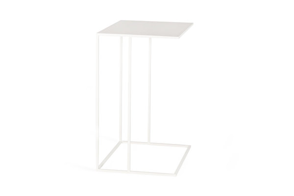SILENCE Sofa Side Wide table White