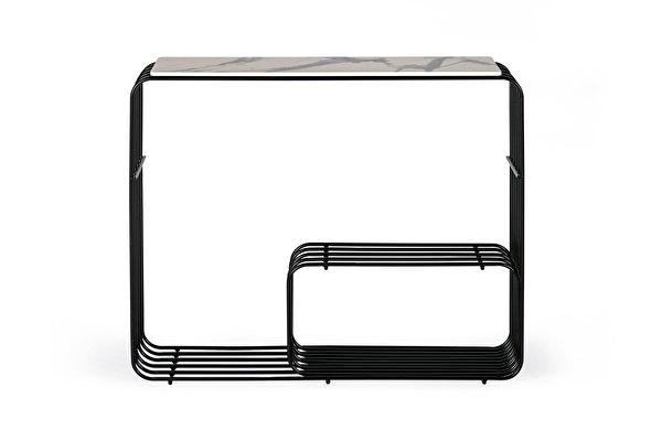 VINGIS Console White-marblelook-tabletop