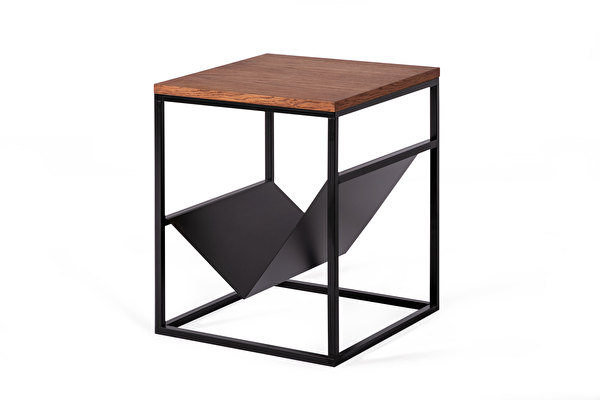 FOREST Side Magazine table Chocolate