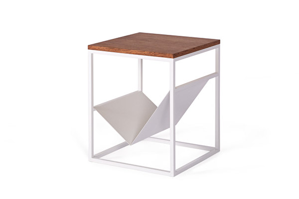 FOREST White Side Magazine table Chocolate
