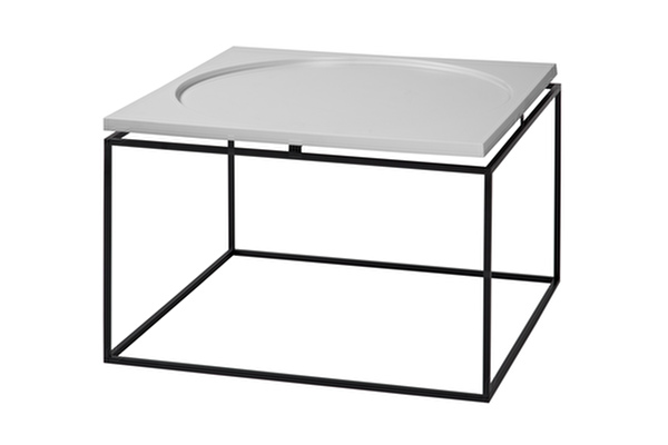 CIRCLE IN SQUARE Coffee table Grey