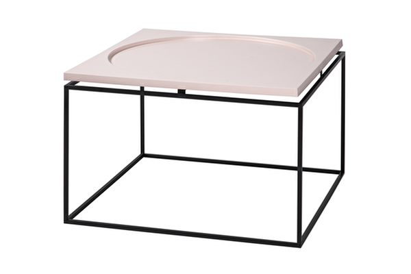 CIRCLE IN SQUARE Coffee table Pink