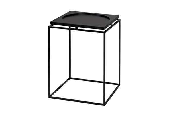 CIRCLE IN SQUARE Side table Black