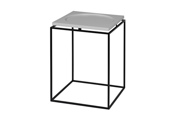 CIRCLE IN SQUARE Side table Grey