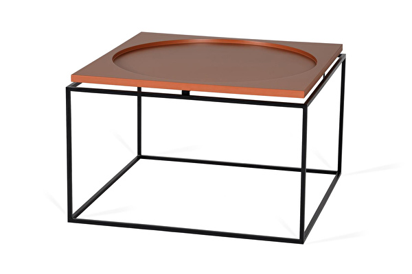 CIRCLE IN SQUARE Coffee table Terracotta