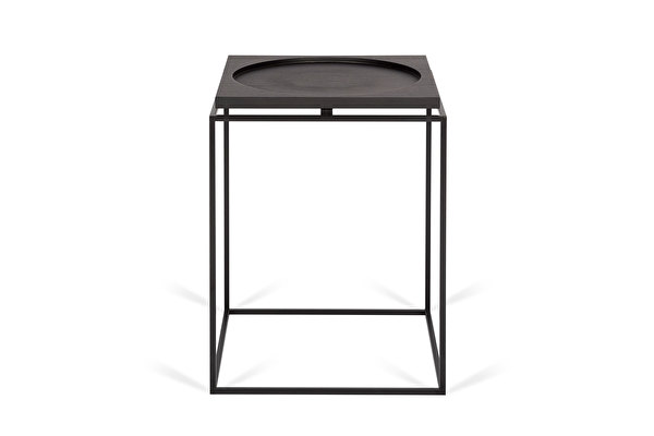 CIRCLE IN SQUARE Side table Black-oak