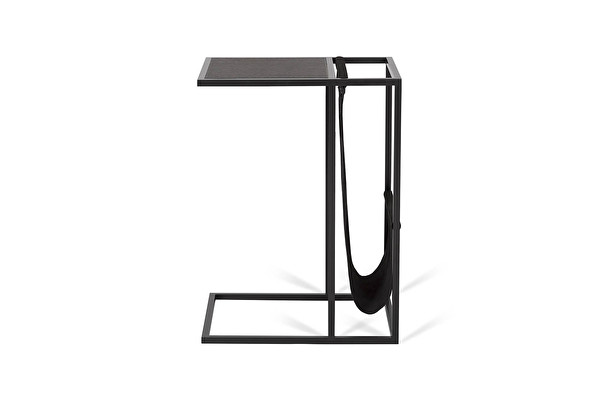 AVEI Sofa Side table Black-leather